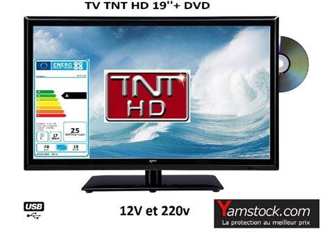 Tv Led Votre 19 t 233 l 233 vision tv led dvd 19 48cm hd led 12v 220v