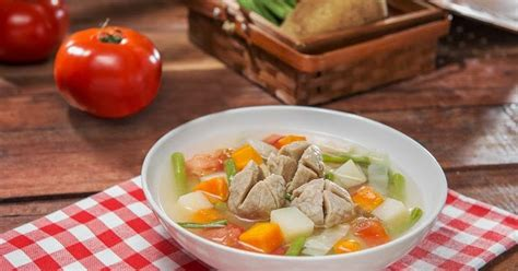 resep  sayur bakso segar lezat
