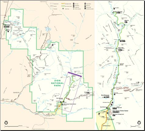 zion park map map of zion national park worldofmaps net maps