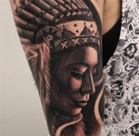 native american sleeve tattoos 4 american ideas