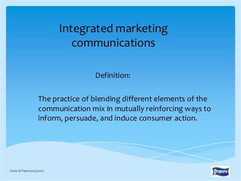 Imc Integrated Marketing Communication That Sells J B14 81342 drypers corporation