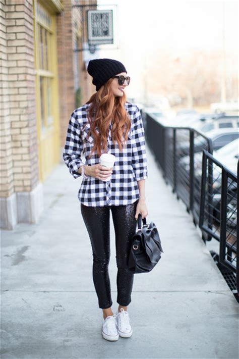 Kemeja Lusy plaid shirt jean style shirts sequin