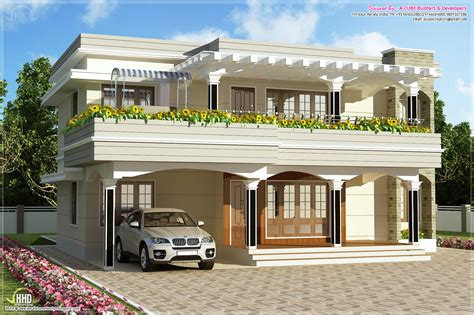 modern kerala house plans modern flat roof villa in 2900 sq feet kerala home design and floor plans