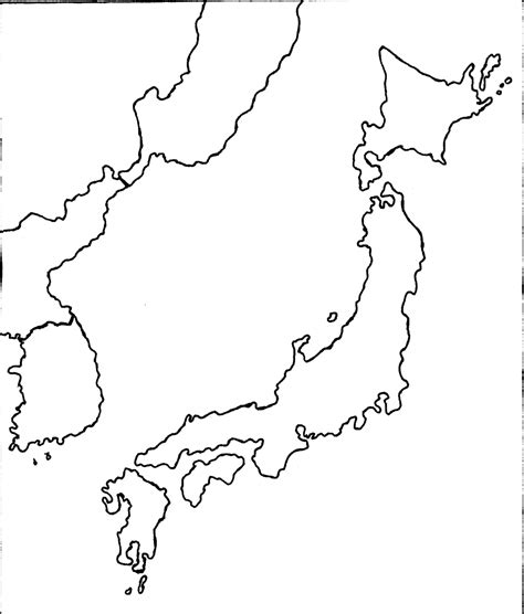 printable images of japan best photos of printable outline map of japan japan map