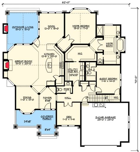 house plans with bonus rooms architectural designs