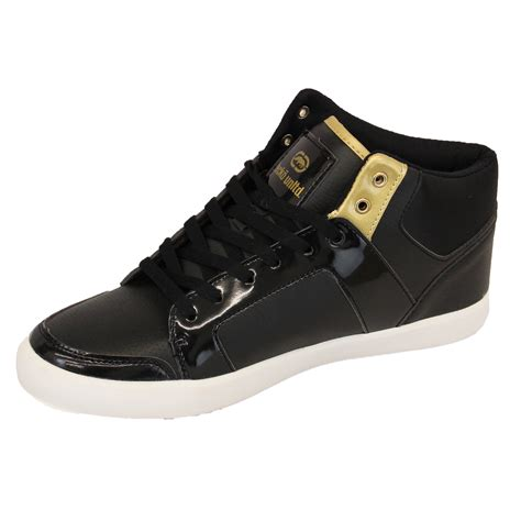ecko shoes mens trainers ecko sneakers shoes hi top lace up designer