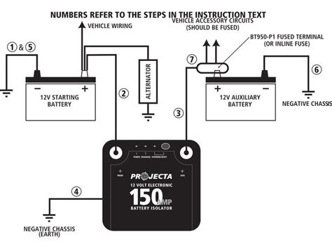 dual battery isolator wiring diagram charging get free