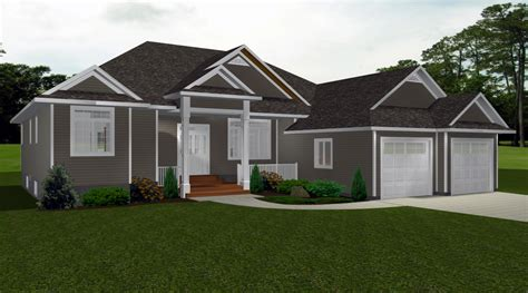 Bungalows 60 Plus Ft By E Designs 2 Bungalow 2 Car Garage House Plans