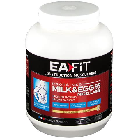 Ea Fitness - ea fit proteines milk eggs 95 micellaire vanille shop