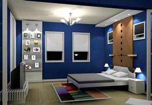 Interior Designed Bedrooms Pop Blue Bedroom Interior Design Image 2014