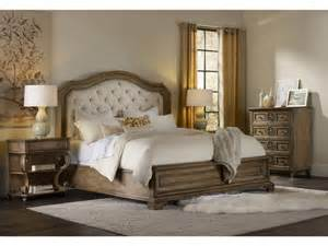 Padded Headboard Bedroom Sets Furniture Brown Stained Wood Kingsize Bed With White