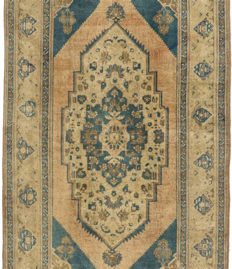 blue oushak rug vintage turkish oushak rug with modern design and cerulean blue field for sale at 1stdibs