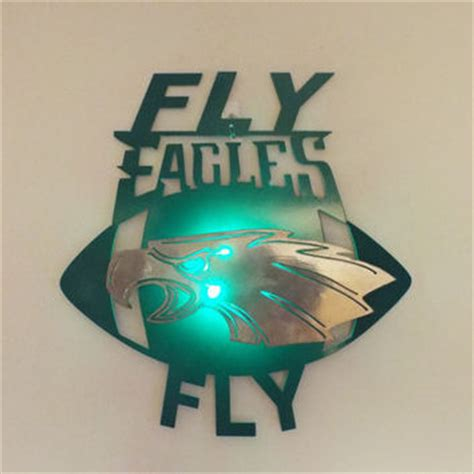 philadelphia eagles 2d wall with led from