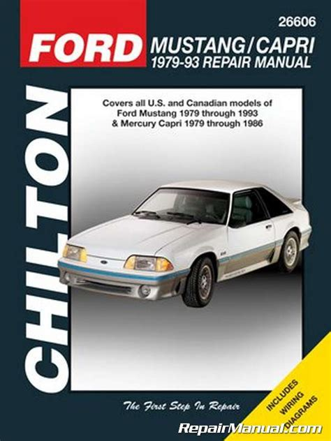 1979 1993 ford mustang automobile repair manual by chilton