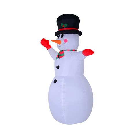 8 waving snowman led lighted outdoor air blown inflatable