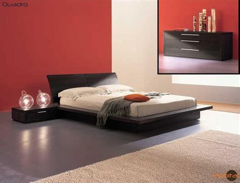 mobital furniture contemporary oak truffle bedroom set mobi quadro  contemporary