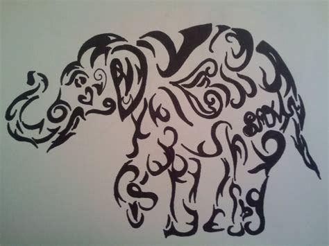 tribal elephant tattoo designs tribal elephant outline