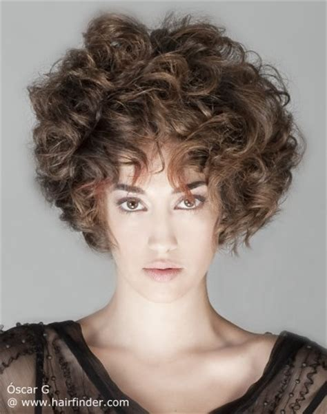 full volume curls hairstyle short hairstyle with large curls and feminine volume