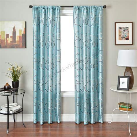 spa blue curtains strada sphere curtain panel