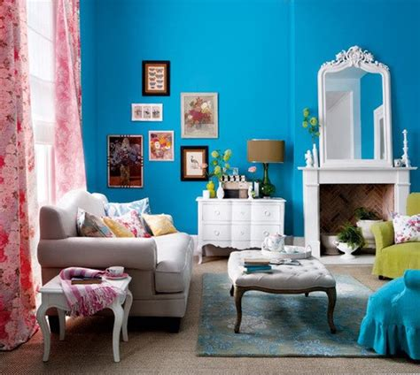 Living Room Blue Colors 111 Bright And Colorful Living Room Design Ideas Digsdigs