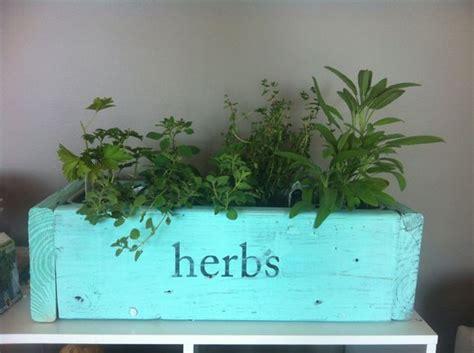 diy herb garden box herb planter box diy for the flat pinterest