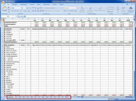 excel vorlage haushalt ausgaben spartipp haushaltsbuch mit excel einnahmen und ausgaben