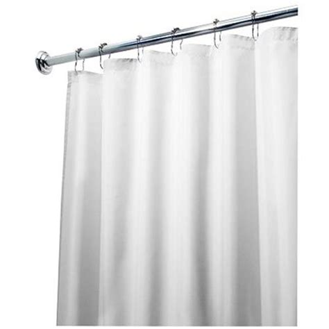 extra long shower curtain liner 96 interdesign 96 inch fabric waterproof extra long shower