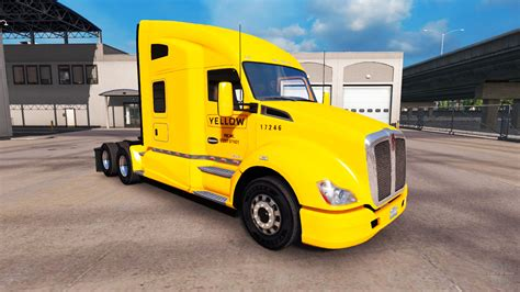 peterbilt and kenworth skin yellow inc for peterbilt and kenworth trucks for