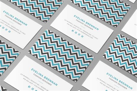 chevron business cards template chevron business card template inspiration cardfaves