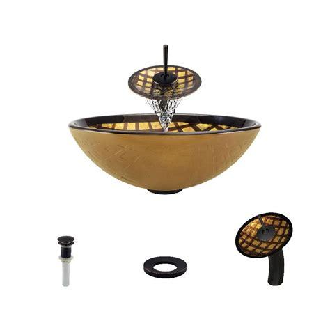 mr direct vessel sinks mr direct glass vessel sink in gold and brown foil