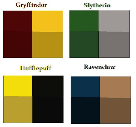 what color is hufflepuff hogwarts house colors base by airbender01 deviantart