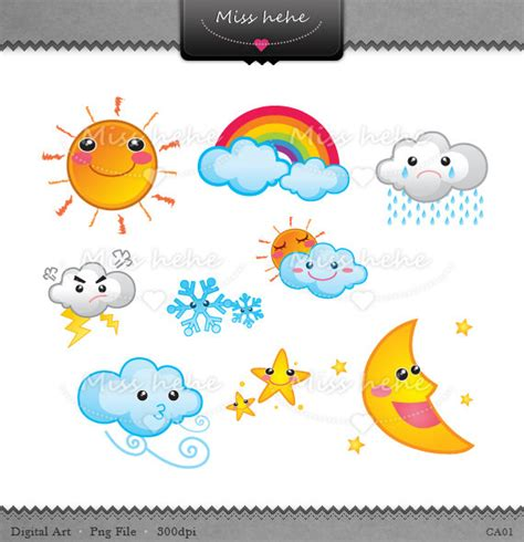Cute Weather Clipart - Clipart Suggest Free Clip Art Weather Pictures