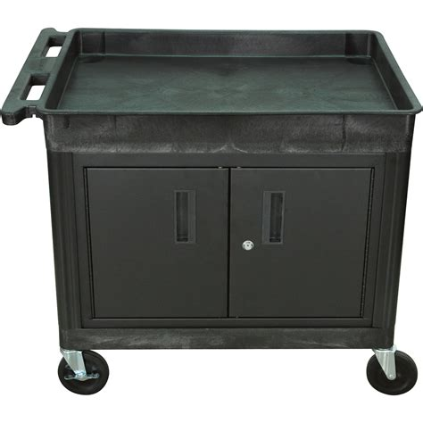Luxor Cart With Locking Cabinet 400 Lb Capacity Model