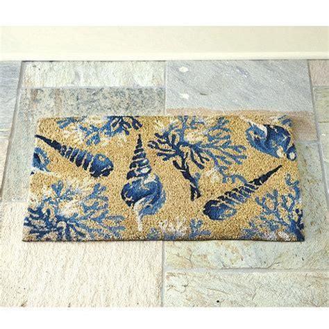 seashell coir door mat fall decor