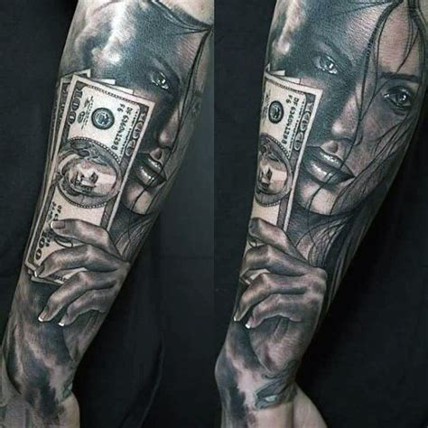 money tattoo designs for men 50 money tattoos for wealth of masculine design