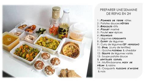 cuisiner pour la semaine en 2h max les gourmandises de l 233 a