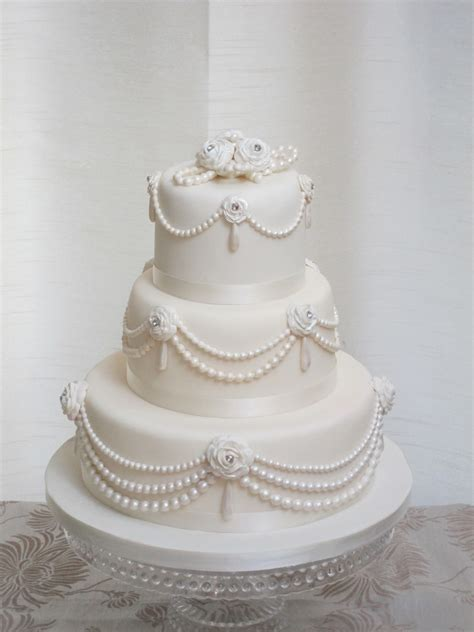 Wedding Cakes With Pearls by Pearls Wedding Cake Flickr Photo