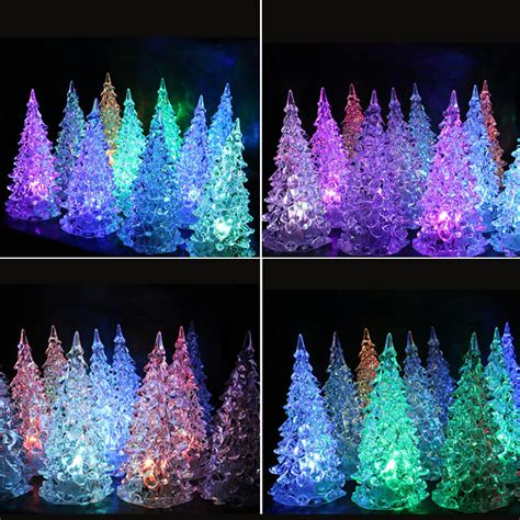 colour changing lights for christmas trees 7 colors changing led tree light l home decor gift new year ebay
