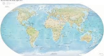 Image Of The World Map by Clipart Physical Map Of The World