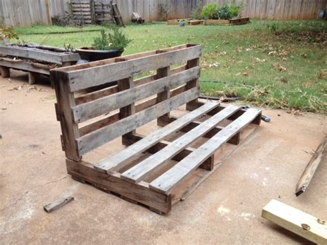 how to make a bench from pallets 5 easy steps to turn a pallet into an outdoor patio bench rk black inc oklahoma