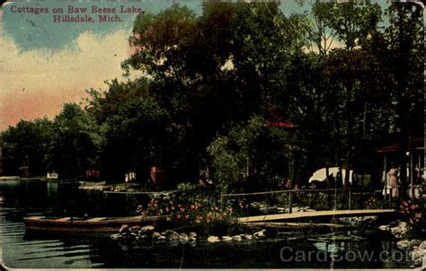 Cottage Inn Hillsdale Mi by Cottages On Baw Beese Lake Hillsdale Mi