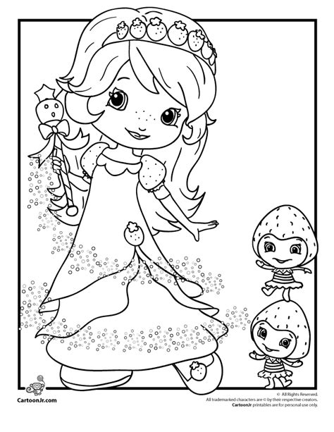 strawberry shortcake coloring pages free coloring home