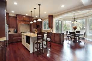 Kitchen Island With Dining Table Attached - 43 quot new and spacious quot darker wood kitchen designs amp layouts