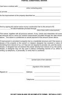 partial lien waiver template the michigan partial conditional waiver can help you make