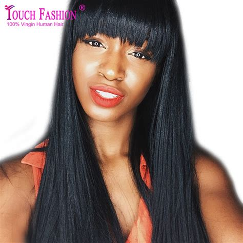 Hairstyle Wigs With Bangs by Bangs For Black Lace Wig With Bangs
