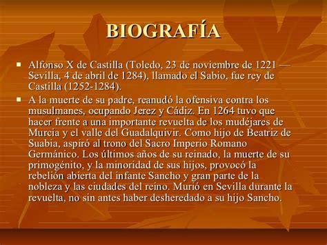resumen de la biografia de alfonso x el sabio alfonso x el sabio