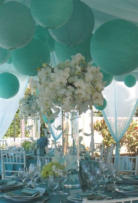 gorgeous white and tiffany blue wedding b lovely events