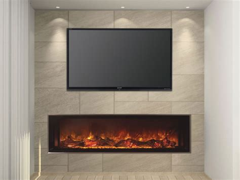 60 In Electric Fireplace by Landscape Fullview 60 Modern Flames
