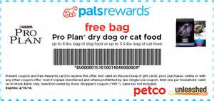Free bag of purina pro plan dog or cat food coupon connections