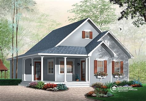 attractive one storey drummond house plans